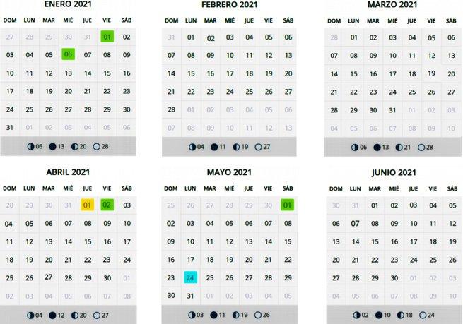Calendario laboral Santander 2021