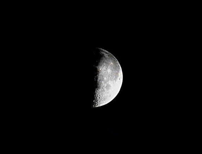 Imagen de la luna en cuarto menguante
