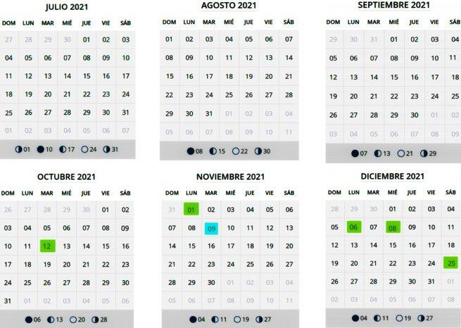 Calendario laboral 2021 Madrid