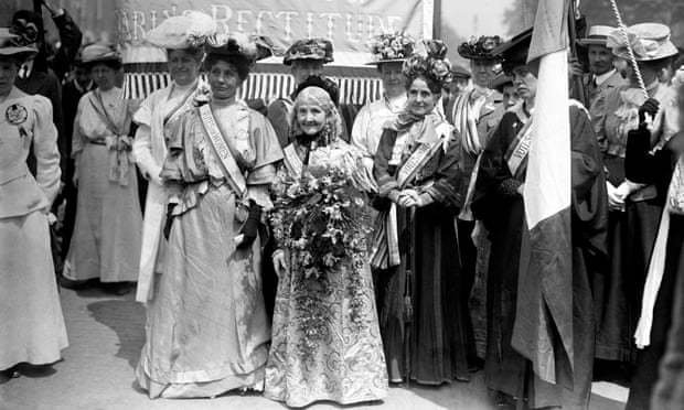 manifestação de mulheres em 1908