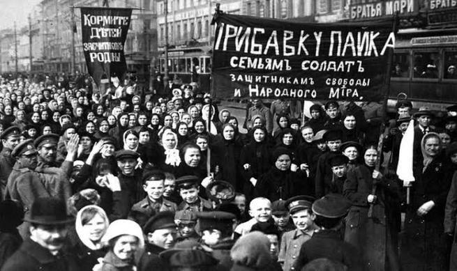Protesto de mulheres na Rússia em 1917