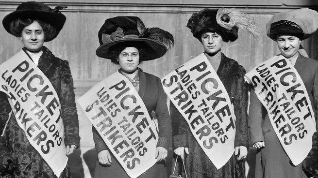 protesto de mulheres em 1909