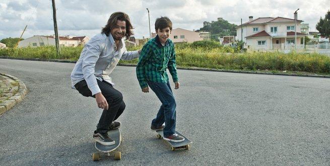 skate com o pai