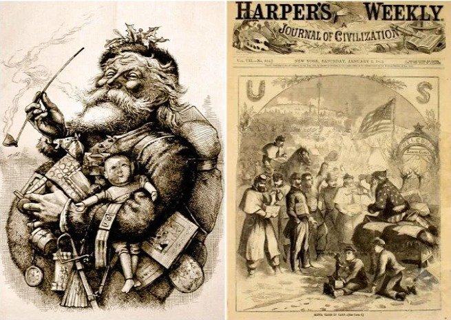 papai noel 1881 por Thomas Nast
