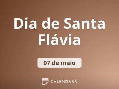 Dia de Santa Flávia