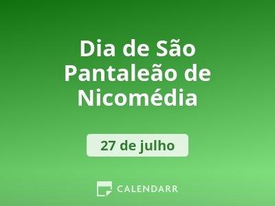 Dia de São Pantaleão de Nicomédia