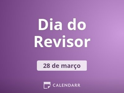 Dia do Revisor