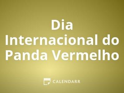 Dia Internacional do Panda Vermelho