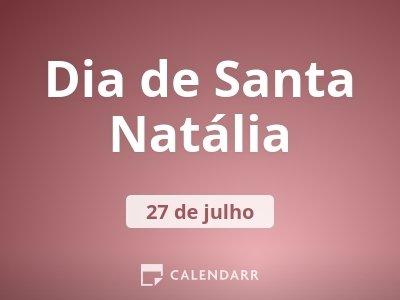 Dia de Santa Natália