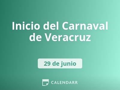 Inicio del Carnaval de Veracruz