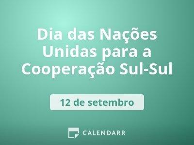 Dia das Nações Unidas para a Cooperação Sul-Sul