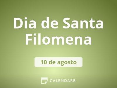 Dia de Santa Filomena