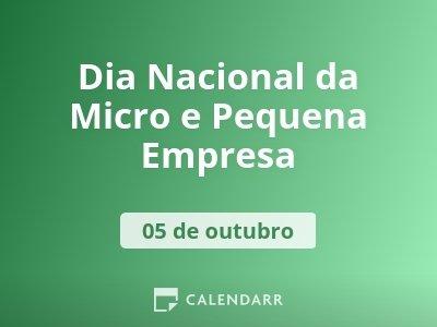 Dia Nacional da Micro e Pequena Empresa