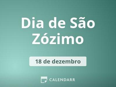 Dia de São Zózimo