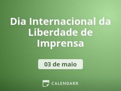 Dia Internacional da Liberdade de Imprensa