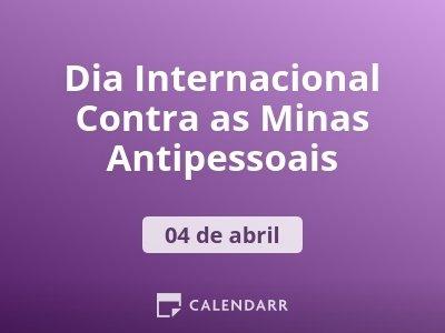 Dia Internacional Contra as Minas Antipessoais
