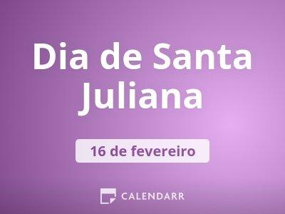 Dia de Santa Juliana