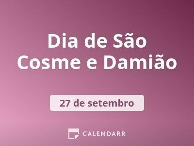 Dia de São Cosme e Damião