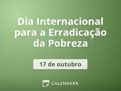 Dia Internacional da Erradicação da Pobreza