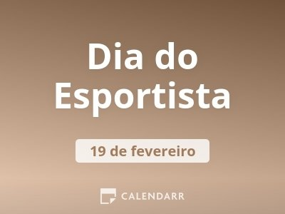 Dia do Esportista