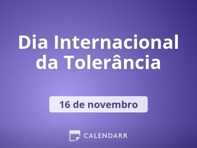Dia Internacional da Tolerância
