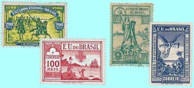 Série comemorativa de selos - 4.º centenário do descobrimento do Brasil