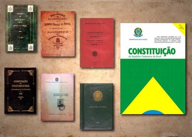 Capas das constituições brasileiras