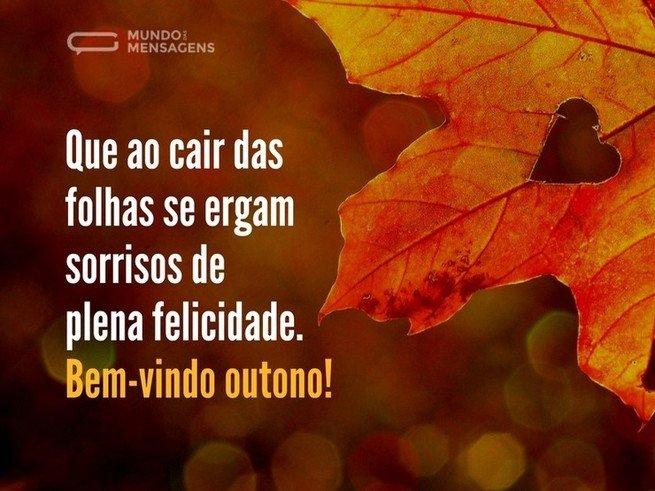 mensagem para celebrar chegada do outono