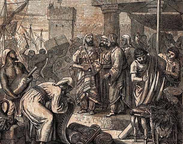 comerciantes fenícios