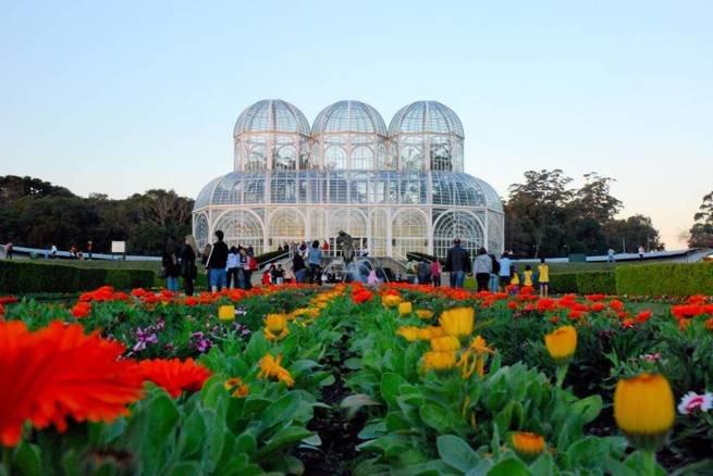 Flores no palácio de cristal
