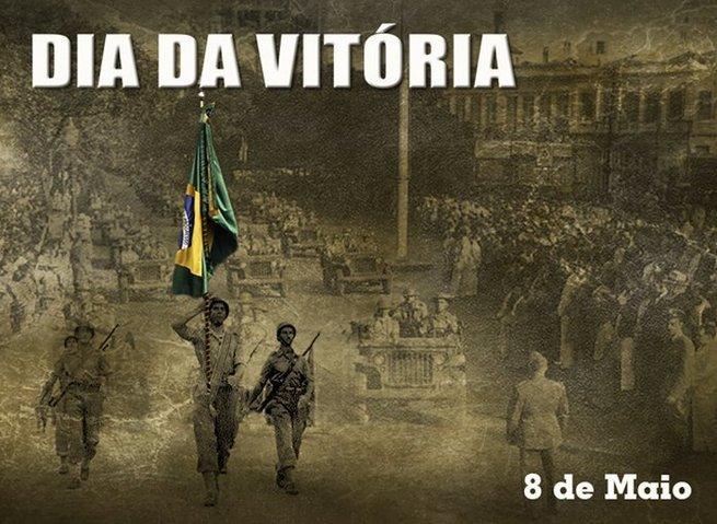 Dia da Vitória cartaz comemorativo
