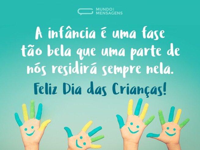 Mensagem sobre infância para o dia das crianças
