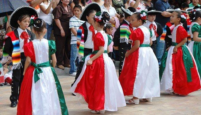 Baile regional en el día de la Independencia