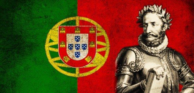 Camões e a bandeira de Portugal