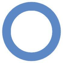 Símbolo da diabetes: círculo azul