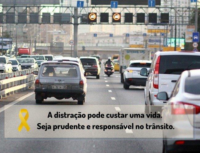 Mensagem maio amarelo dia nacional do trânsito