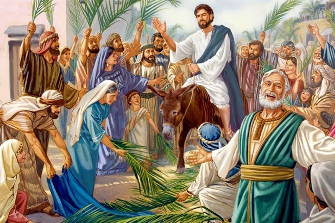 Jesus num jumento