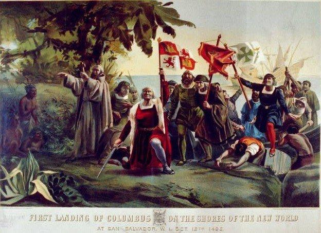 Columbus' First Landing, 1492