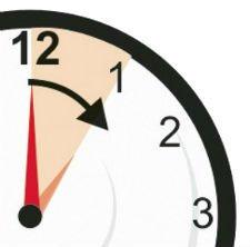 Relógio indicando mudança de horário nos Açores