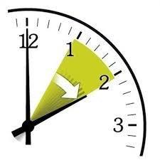 Relógio indicando mudança de horário