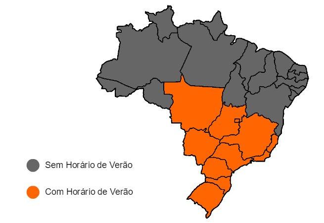 mapa horario verão
