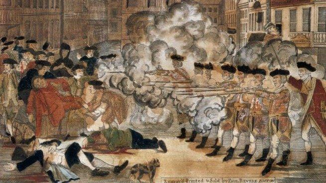 Imagen de la Masacre de Boston