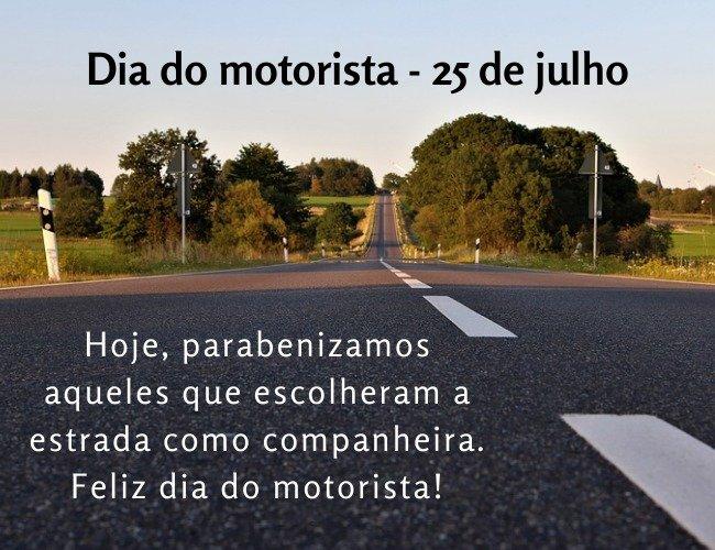 Mensagem homenagem dia do motorista