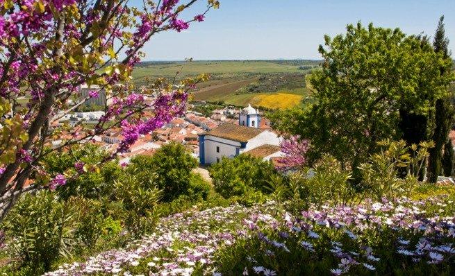 Paisagem portuguesa na primavera