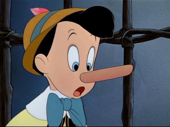 Pinóquio com o nariz grande