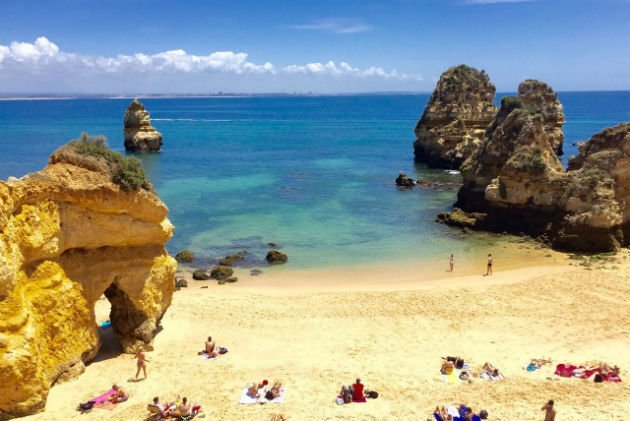 Praia do Camilo, no Algarve (Portugal)