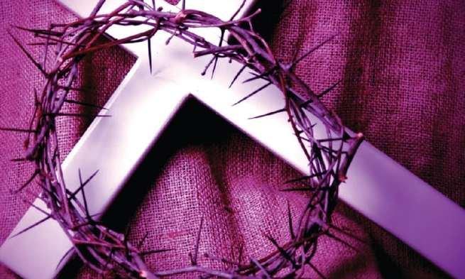 Quaresma, cruz e coroa de espinhos