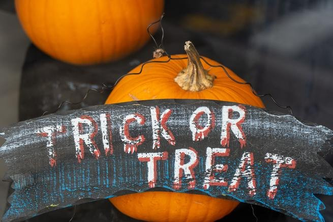 Trick or treat.