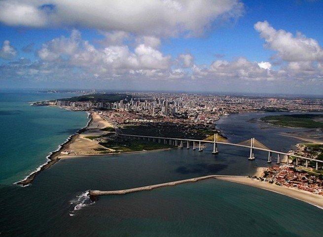 vista aérea da cidade de Natal