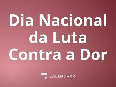 Dia Nacional da Luta Contra a Dor